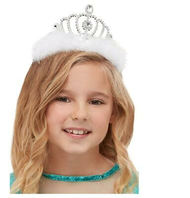 Child Silver Princess Tiara Fairy Tales Christmas Fancy Dress Party Accessory • 3.49£