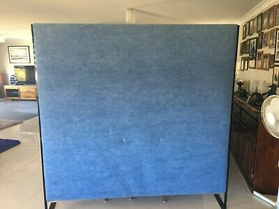 AU250 • Buy Office Screen / Divider Blue Fabic Covered. 1.8 X 1.8 New Condition. RRP $365