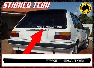AU50 • Buy Twin Cam 16 Hatchback Vinyl Sticker Decal To Suit Toyota Ae82 Corolla 4age