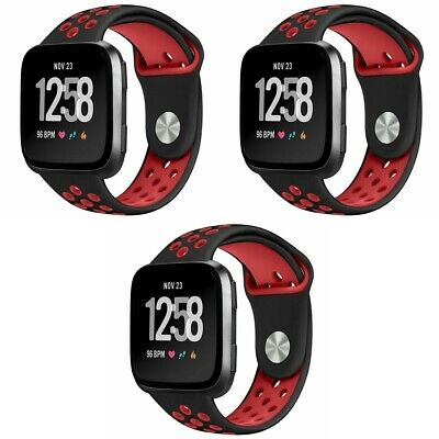 $ CDN19.83 • Buy 3-Pack For Fitbit Versa Strap Sport Breathable Silicon Replacement Watch Band
