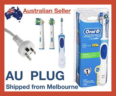 AU44.17 • Buy Oral-B Vitality Braun Power Cross Action Electric Rechargeable Toothbrush Brush