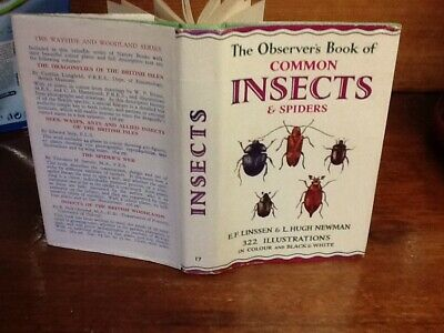 £14.99 • Buy Observers Book Of Common Insects & Spiders 1960 EMB Boards