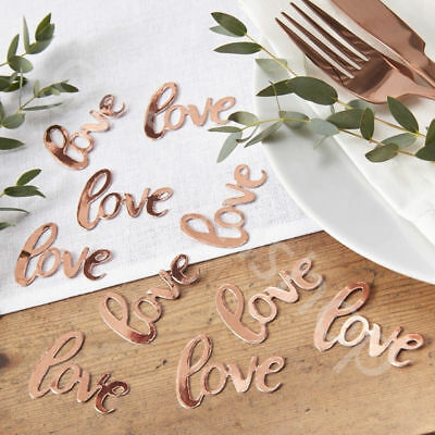 Rose Gold Love Table Confetti Scatter Wedding Engagement Party Table Decoration • 3.99£