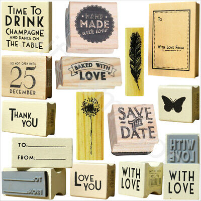 New East Of India Rubber Stamps Party Wedding Heart Craft Gift Card Name Tags • 2.40£
