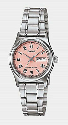 $ CDN32.92 • Buy Casio Women's Silver Tone Rose Gold Dial Stainless Steel Casual Watch LTPV006D-4
