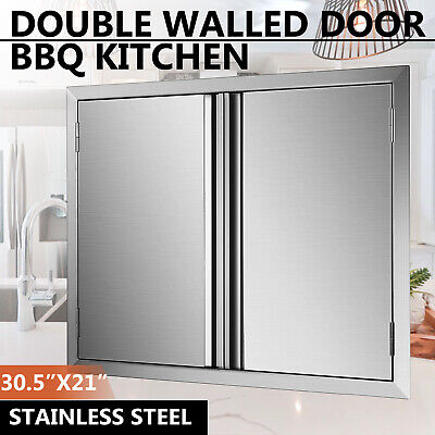 $66.51 • Buy USA 30  Double Walled Access BBQ Door Outdoor Kitchen Drawer Modern Frame Grills
