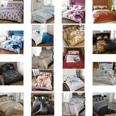 LCC Single Double King Size Duvet Cover & Pillowcase Bedding Sets Multicoloured • 15.99£