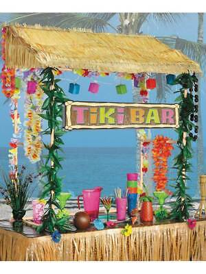 Table Top Tiki Hut Bar Hawaiian Pool Party BBQ Honalulu Luau Hula Caribbean Maui • 37.99£