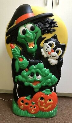 $250 • Buy Rare Halloween WITCH Blow Mold  Vtg 34 Inch Light Up  Good Shape..