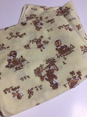 Very Old VIYELLA   Children's Fabric Puppies Sue Bonnet Playing 89 Cm Wide • 36.14£