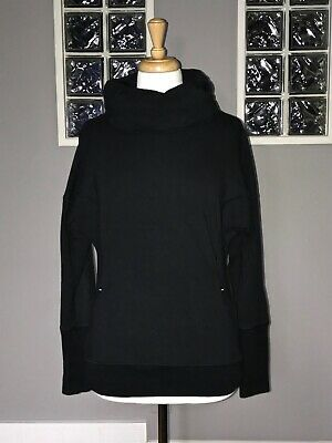 $ CDN66.30 • Buy Lululemon Rest Day Pullover 6 Black French Terry Cowl Neck Long Sleeve Euc