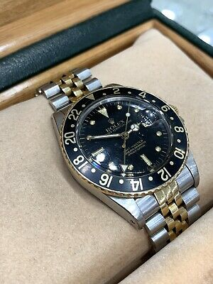$ CDN12680.69 • Buy Rolex GMT Master 16753 Nipple Dial Vintage Watch Two Tone Gold Steel 40mm Jubile
