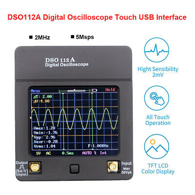 DSO112A Digital Oscilloscope Handheld Mini Wave USB Tester Multimeter 2MHz 5Msps • 49.58£