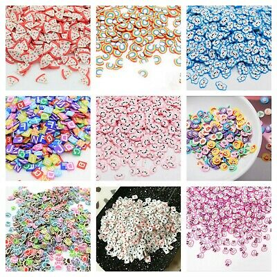 10g Kawaii FAKE Faux Mini Fimo Clay Slices Decoden Sprinkles Slime Nail CRAFT UK • 2.45£