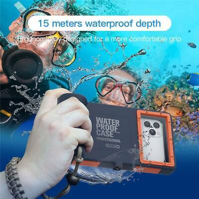 Underwater Diving Waterproof Camera Case Cover For IPhone 7/8 11 Pro Max XR XS • 24.95£