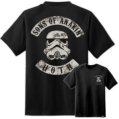 Mens Star Wars Sons Of Anakin MC Style Hoth Charter T Shirt Rise Of Skywalker IX • 14.99£