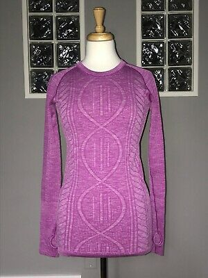 $ CDN80 • Buy Lululemon Rest Less Pullover 6 Heathered Ultra Violet Eeuc Long Sleeve