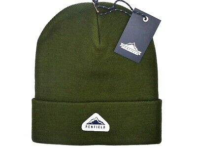 PENFIELD USA Olive Cuff BEANIE Hat Toque Tags *SUPER COMFY* One Size UNISEX • 27.50£