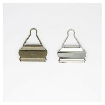 £3.70 • Buy 40mm Bib And Brace Dungaree Fasteners Clips Buckles Silver Or Bronze