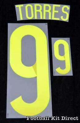 Spain Torres 9 World Cup 2014 Football Shirt Name/number Set Away Sporting ID • 17.87$
