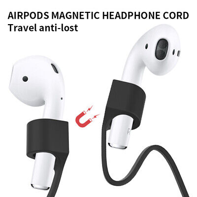 $ CDN4.74 • Buy Magnetic Anti-lost Strap Soft Silicone Case Cover Skin Holder For Apple AirPods