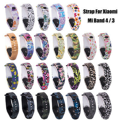 Sports Camouflage Watch Band For Xiaomi Mi Band 4 3 Silicone Bracelet Strap • 1.15$