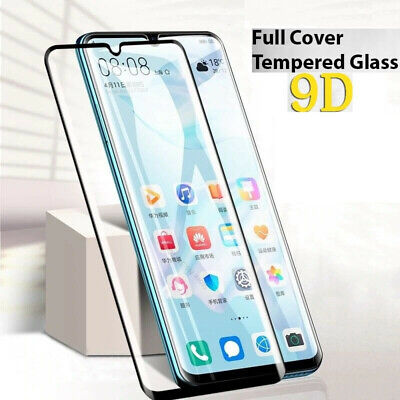 Huawei P30 Lite Pro P SMART Y6 2019 Full Cover Tempered Glass Screen Protector • 1.99£