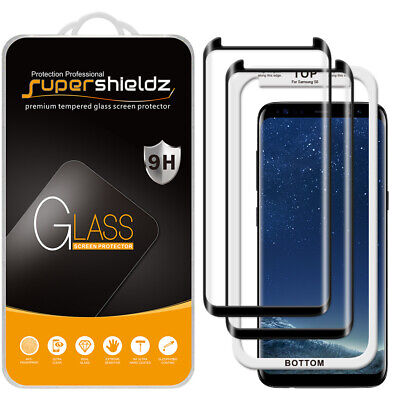 $ CDN14.60 • Buy 2X Supershieldz Full Cover Tempered Glass Screen Protector For Samsung Galaxy S8