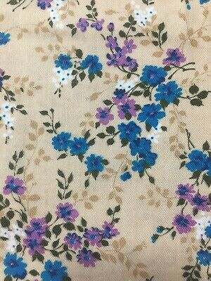 Vintage Viyella  Fabric 1.44  Metres Long X 89 Cm Wide Blue & Lavender Flowers • 33.89£