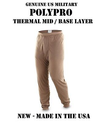 $15.95 • Buy New Us Military Army Usmc Poly Pro Thermal Mid Base Underwear S Pants Bottoms