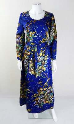 AU151.53 • Buy Original Vintage 1970s Vera Mont Maxi Dress UK Size 10/12 Vintage Clothing