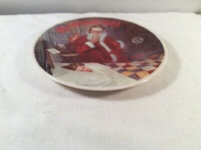 $ CDN11.43 • Buy 1986 Norman Rockwell Collector Plate  Deer Santy Claus  Edwin M Knowles