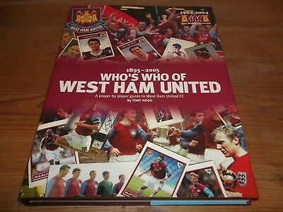 Book Football Who's Who Of West Ham United 1895-2005 Player By Player Guide 1st • 28£