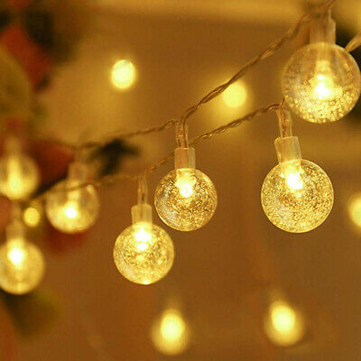 Globe Ball 30 LED Fairy Lights Battery Operated String Light Xmas Party Decor Ib • 5.51£