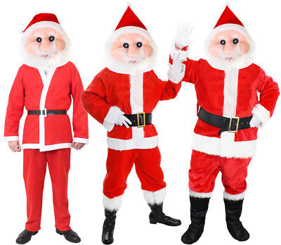 Santa Claus Mascot Costume Father Christmas Suit Mens Xmas Outfit Fancy Dress • 24.99£