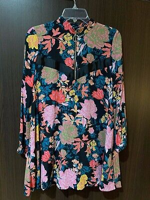 $24.50 • Buy Zara Dress Trafaluc Collection Pink Floral Zip Dress Tunic-EUC!!!