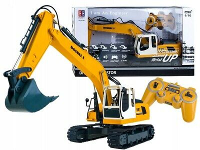 1:16 Remote Controlled RC DIGGER Excavator Battery Charger 2.4GHz NEW • 58.99£