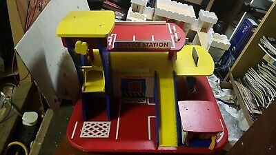 Wooden Car Park Garage With Lift Fun Toy Cars  • 14.20£