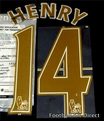 $18.84 • Buy Arsenal Henry Name/Number Set Football Shirt Lextra 07-13 Sporting ID Legend