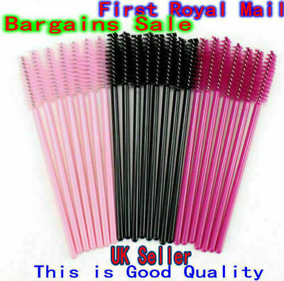 50/100PCS Disposable Mascara Wands Eyelash Brushes Lash Extension Applicator • 3.29£