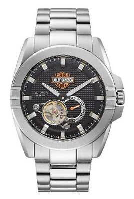 £216.32 • Buy Harley-Davidson Men's Automatic Throttle Stainless Steel Watch, Silver 76A166