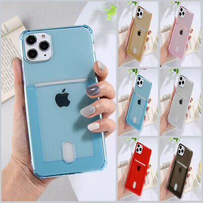 AU9.03 • Buy Transparent Wallet Credit Card Holder Case Cover For IPhone 11 XS Pro Max XR 8 6