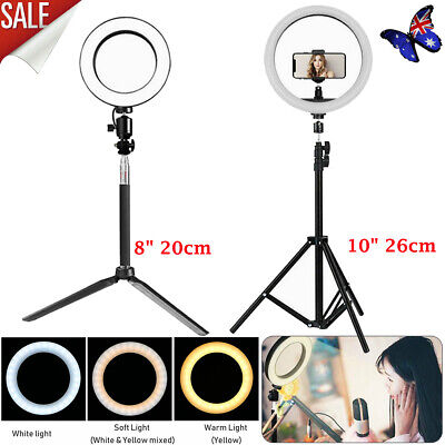 AU27.98 • Buy 8  10  Dimmable Diva LED Ring Light Diffuser Stand Mirror Make Up Studio Video