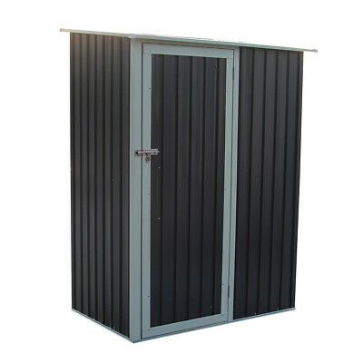 Charles Bentley Storage Shed - Metal Small Roof Door Garden Outdoor Apex • 169.99£