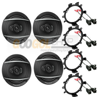 $139.99 • Buy PIONEER-TS-A1670F CAR Truck Front & Rear Door Speakers W/Install Kits 1995-up
