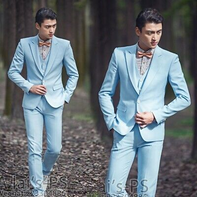 $ CDN122.16 • Buy Men's Wedding Suit Business Party Tuxedo Groom Blazers Jacket Vest Pants Set New