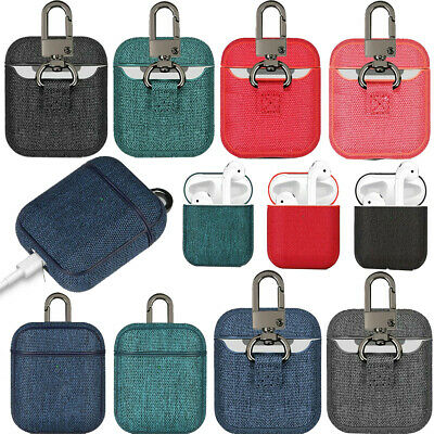 $ CDN8.62 • Buy For Apple Airpods 1 & 2 Canvas Fabric Case Frame Accessories With Keychain