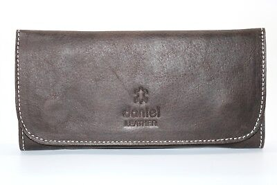 Soft Genuine Smoke Tobacco Pocket Pouch Case Real Vintage Brown Leather New • 12.99£