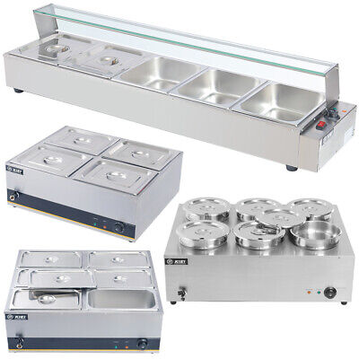 Bain Marie Food Warmer Buffet Stainless Steel Electric Container Temp Controller • 192.95£