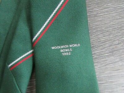 Woolwich World Bowls 1992 With Lancashire Red Rose Motif Tie By Catcose • 9.99£